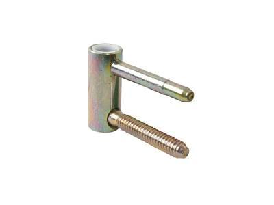 Петля ввертная, 4-штыревая, 3D, створочная часть, диаметр 20 мм, сталь, бихромат Изображение