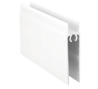 Планка нижняя, алюминий в ПВХ, L=5900 мм, белый глянец. Изображение