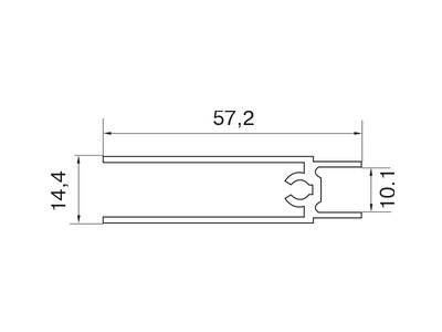 Планка нижняя, алюминий в ПВХ, L=5900 мм, дуб дымчатый  с тиснением. Изображение