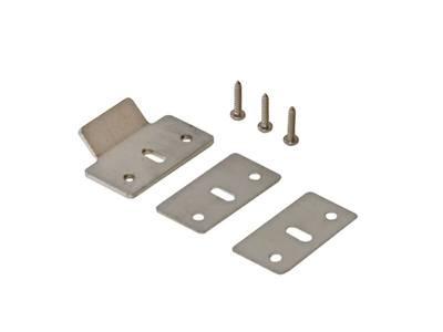 Планка ответная для антипаники ПВХ и деревянных дверей (ответка, 2 подкладки, 3 винта) Изображение
