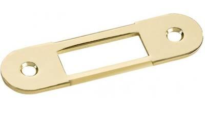 Планка ответная для дверей с наплавом, шириной 22мм,универсальная, латунь полированная Изображение 3