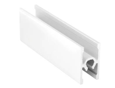 Планка средняя под крепеж, алюминий в ПВХ, L=5900 мм, белый глянец. Изображение