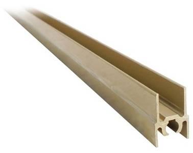 Планка верхняя, алюминий, L=5800 мм, золото. Изображение