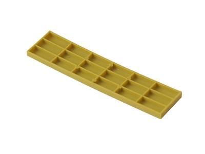 Пластина рихтовочная Bistrong 100x24x4, желтая Изображение 2