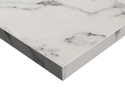 ЛДСП плита Syncron by Alvic (белый мрамор (Oriental White Silk Stone), 1220x18x2750 мм) Изображение