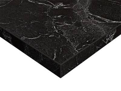 ЛДСП плита Syncron by Alvic (черный мрамор (Oriental Black Silk Stone), 1220x18x2750 мм) Изображение