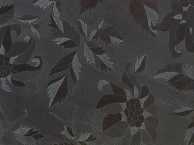 AGT глянцевая ламинированная плита МДФ (чёрные цветы (629/1102), 1220x18x2800 мм) Изображение