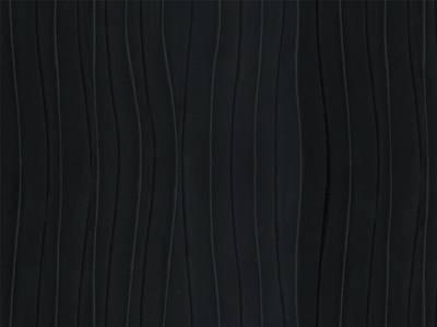 Плита МДФ AGT 1220*8*2800 мм, односторонняя глянец горизонтальный, черная волна 665 Изображение