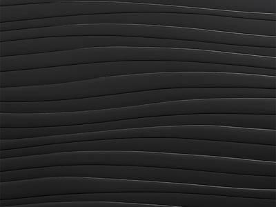 Полотно EVOGLOSS МДФ глянец черная волна P233, 18*1220*2800 мм, одностороннее Изображение