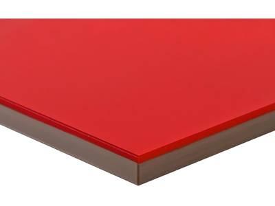 Полотно МДФ LUXE красный  (Rojo) глянец, 1220*18*2750 мм, Т2 Изображение