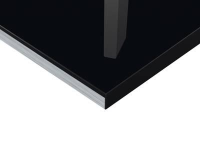 Плита МДФ Тон Черный 0424  глянец УФ-лак, 16*1220*2440 мм Изображение