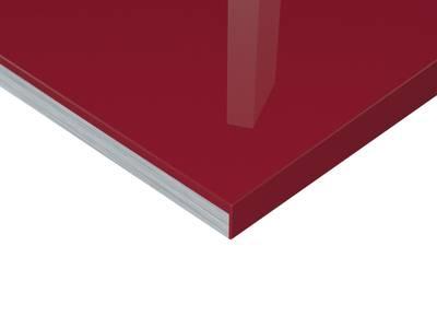 Плита МДФ Тон Винный Красный 0421  глянец УФ-лак, 16*1220*2440 мм Изображение