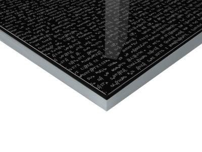 Плита МДФ Литера Неро 2302 глянец УФ-лак, 16*1220*2440 мм Изображение