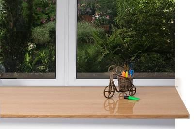 Подоконник пластиковый Moeller 400мм, светлый дуб глянцевый Изображение 3