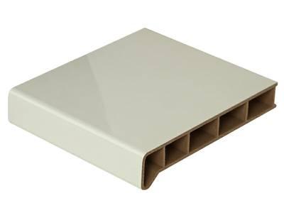 Подоконник пластиковый Moeller 600мм, белый глянцевый с 2 капиносами Изображение 2