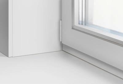 Подоконник пластиковый Moeller 800мм, белый матовый Изображение 3