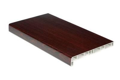 Подоконник пласткиовый Витраж В-40 500мм, махагон матовый Изображение