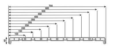 Подоконник пластиковый Витраж В-40 500мм, светлый мрамор матовый ламинат VPL Изображение 3