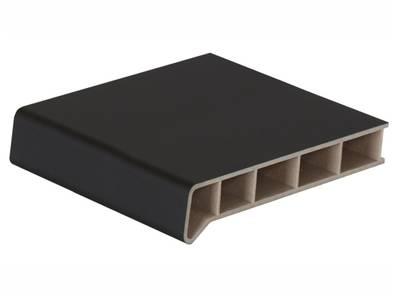Подоконник пластиковый Moeller 600мм, черный ультраматовый с 2 капиносами (clean-touch) 5,5м Изображение 2