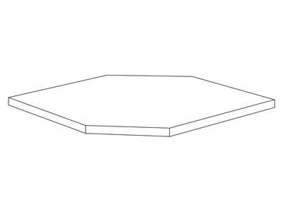 Полка 61*61 для навесных угловых корпусов Изображение