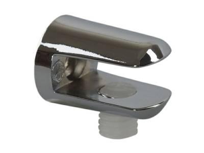 Полкодержатель для стеклянных полок FIRMAX, H=8 мм, цинк, хром Изображение