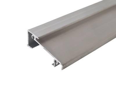 Порог алюминиевый для ПВХ дверей не окрашенный (6м), универсальная система Изображение