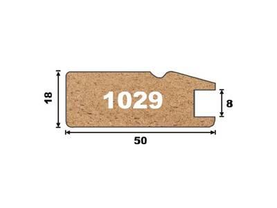 1029 Профиль AGT МДФ, темная вишня (210), 18*50*2795 Изображение 2