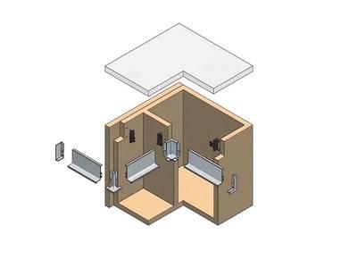 Горизонтальный профиль верхний для нижних кухонных баз GOLA ALPHALUX (L=4.1 м, алюминий белый) Изображение 2