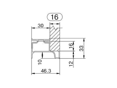 Профиль GOLA Alphalux вертикальный боковой(для шкафов из ДСП=16мм) L=4.5м., алюминий черный Изображение 2