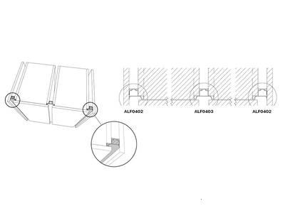 Профиль GOLA Alphalux вертикальный боковой(для шкафов из ДСП=16мм) L=4.5м., алюминий черный Изображение 3