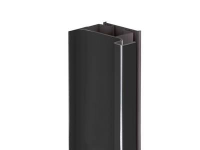 Профиль GOLA Alphalux вертикальный боковой(для шкафов из ДСП=16мм) L=4.5м., алюминий черный Изображение