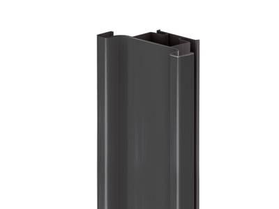 Профиль GOLA Alphalux вертикальный средний(для шкафов из ДСП=16мм) L=4.5м., алюминий черный Изображение