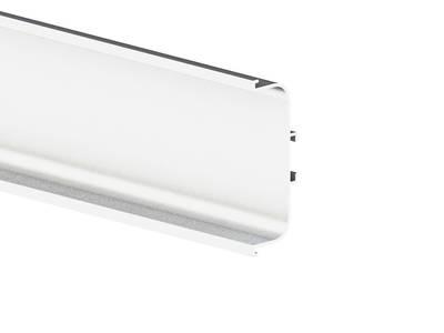 Профиль GOLA FIRMAX П-образный для нижних баз L=4200mm, алюминий белый Изображение