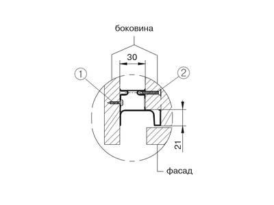 Профиль GOLA FIRMAX вертикальный боковой L=3000mm, алюминий серебро Изображение 3