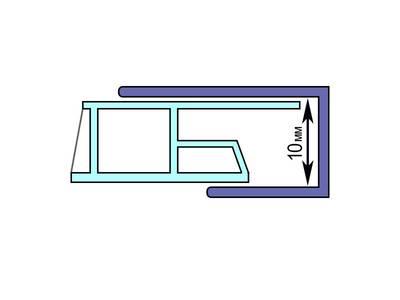 Профиль (L) начальный Bauset TPL 27х20мм белый 6,0 м Изображение 2