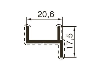 Профиль дверной ALUTECH-ALT118 (6 м, RAL9016) Изображение