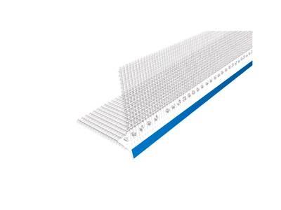 Профиль капельник ПВХ с сеткой 100х100 мм белый 2,5 м Изображение