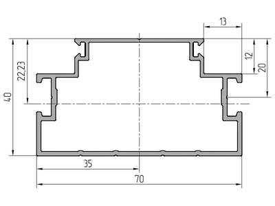 Профиль каркаса ALUTECH-ALT111 (6.2 м, RAL9006) Изображение