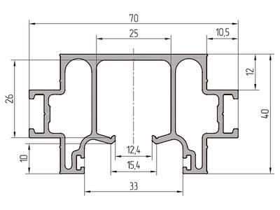Профиль направляющей ALUTECH-ALT111 (6.2 м, RAL9006) Изображение