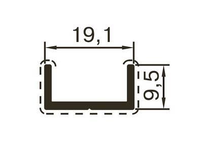 Профиль обрамления ALUTECH-ALT118 (6 м, RAL9006) Изображение