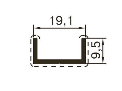 Профиль обрамления ALUTECH-ALT118 (6 м, RAL9016) Изображение