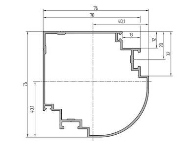 Профиль поворотный ALUTECH-ALT111 (6.2 м, RAL9006) Изображение