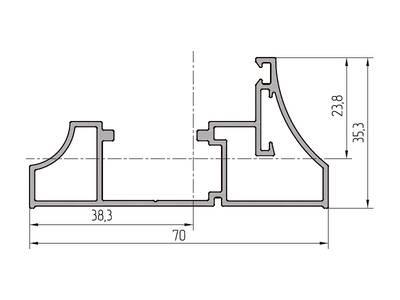 Профиль рамы ALUTECH-ALT111 (6.2 м, RAL9006) Изображение