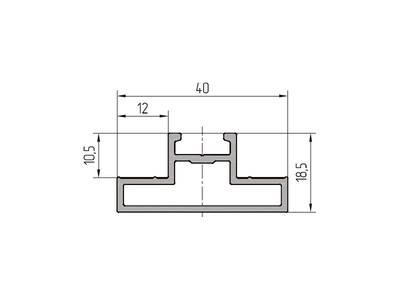 Профиль ригеля ALUTECH-ALT111 (6.2 м, A00-E6) Изображение