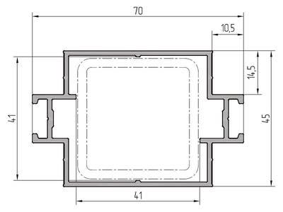 Профиль ригеля усиленный ALUTECH-ALT111 (6.2 м, RAL9006) Изображение