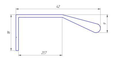 Профиль ручка для фасадов, серия BRIN, L=3000 мм, алюминий, бронза. Изображение 2