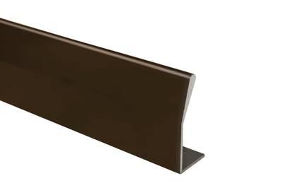 Профиль ручка для фасадов, серия BRIN, L=3000 мм, алюминий, бронза. Изображение