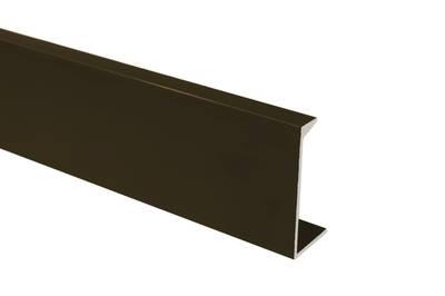 Профиль ручка для фасадов, серия KARE,  L=3000 мм, алюминий, бронза. Изображение