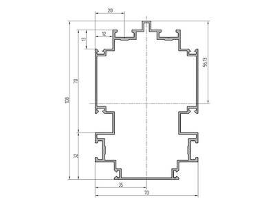Профиль соединительный ALUTECH-ALT111 (6.2 м, RAL9006) Изображение