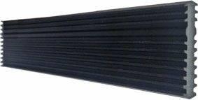 Стыковочный профиль 5x22.5 мм, L=2050 мм, черный Изображение 5